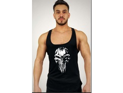 Black Punisher Baskılı Fitness Atlet