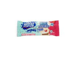 Muscle Station Meal Replacement Birthday Cake Bar 40 Gr 1 Adet