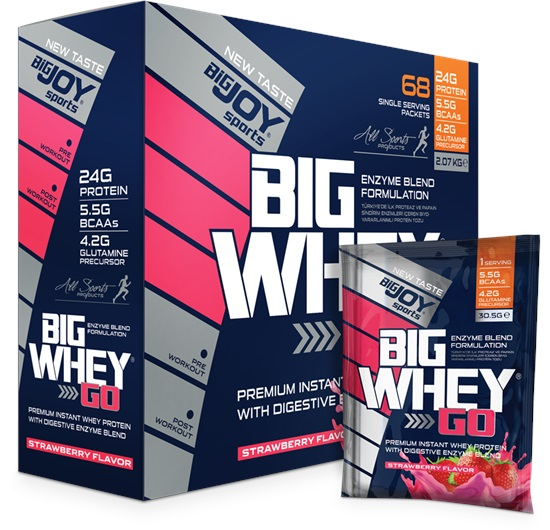 Bigjoy Sports Big Whey Go Çilek 68 Servis (2.07kg)